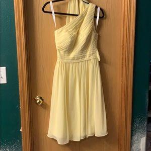 Azazie Katrina dress in daffodil